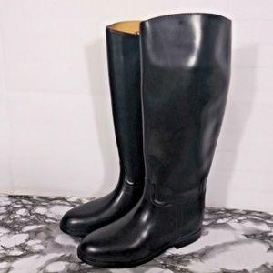 Aigle Women Equestrian Boot Size 8.5 Rubber XXL